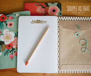 diy, notebook, and flowers image