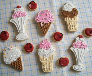 Cookies, cherry, and pink image