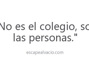 frases, colegio, and people image