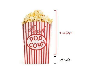 funny, movie, and popcorn image