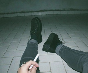 grunge, cigarette, and smoke image