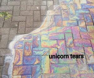 color, tears, and unicorn image