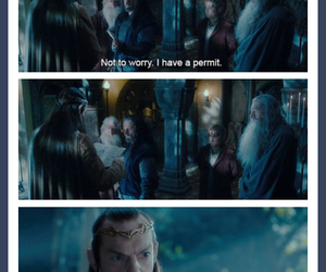funny, elrond, and the hobbit image