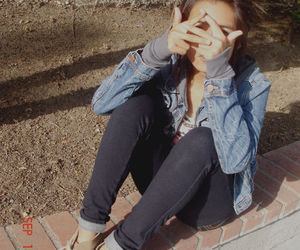 girl, denim, and style image