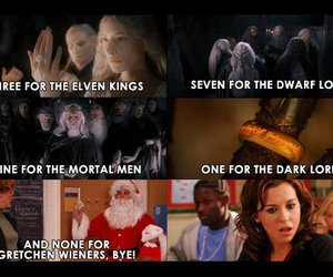 mean girls, funny, and lord of the rings image