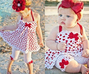 baby, red, and fashion image