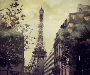 city, europe, and eiffel tower image