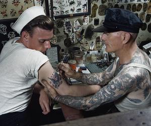 sailor, tatto, and tattoo image
