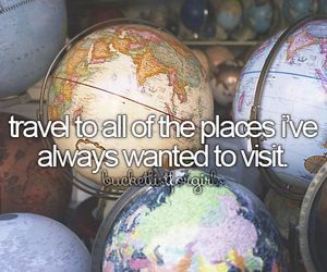 travel, Dream, and girly image