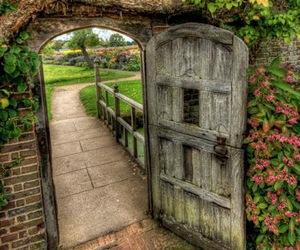 garden, door, and gate image