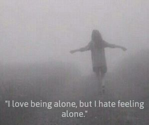 alone, hate, and black and white image