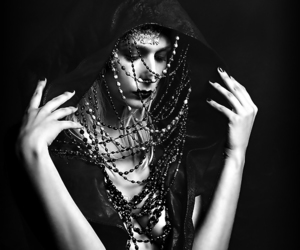 beads, beauty, and black image