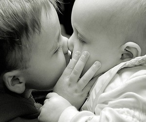 baby, cute, and kissing image