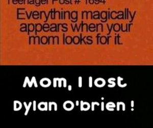 mom, teen wolf, and dylan o'brien image