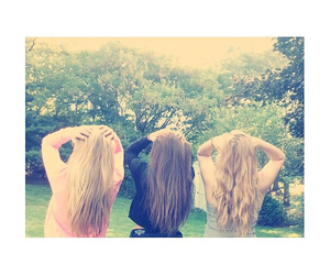 best friends, friend, and hair image