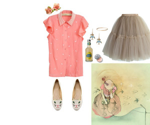 pink, vintage, and ballerinas image