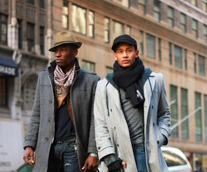 boys, hat, and coat image