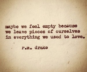 quote, empty, and love image