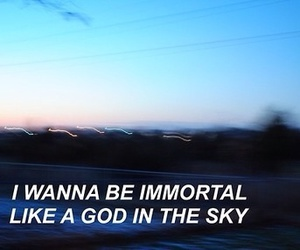 Immortal, grunge, and quote image