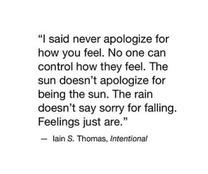 quote, feelings, and sorry image