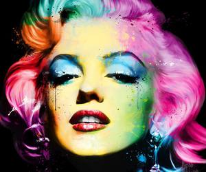 colors, Marilyn Monroe, and art image