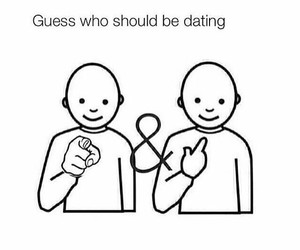 dating, couple, and funny image