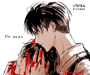 levi, eren, and cute image