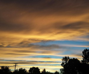 clouds, photography, and sunset image