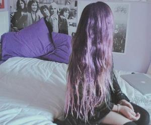 bedroom, grunge, and girl image