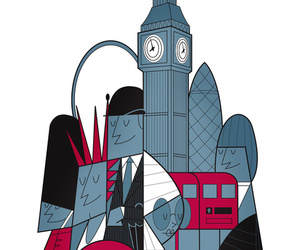 Big Ben, design, and london image