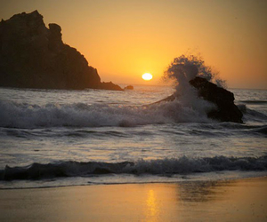 peaceful, rock, and wave image