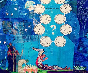 blue, larrycarlson, and Collage image