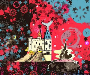 black, castle, and college image