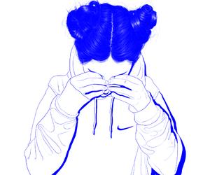 nike, blue, and grunge image