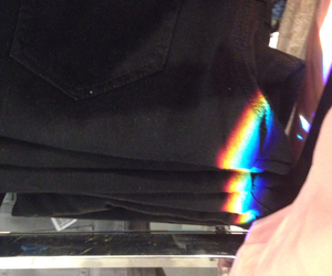 black, black jeans, and black pants image