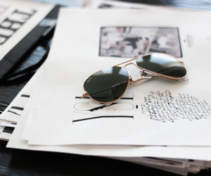 sunglasses, style, and black and white image