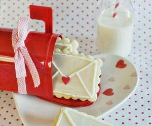Cookies, milk, and Valentine's Day image