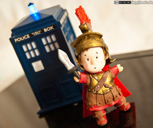 doctor who, rory the roman, and tardis image