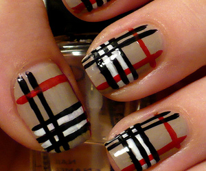 nails, Burberry, and nail art image