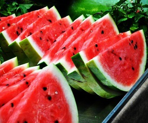 fruit, photography, and watermelon image