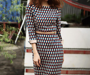 slim, grid, and fit dress image