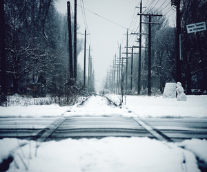journey, railroad, and tracks image