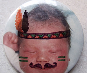 baby, facepaint, and button image
