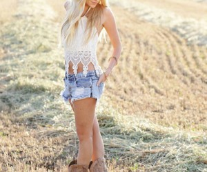 girl, boots, and country image