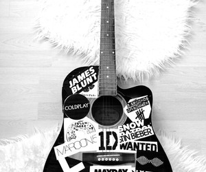 music, guitar, and one direction image