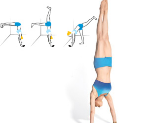 handstand, workout, and yoga image