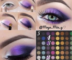 makeup, eyes, and shadow image