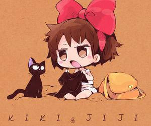 anime girl, ghibli studio, and cat image