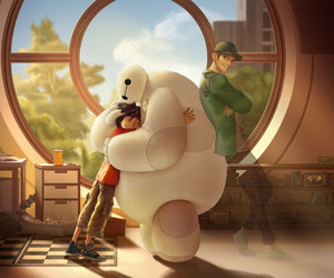 baymax, hiro, and disney image
