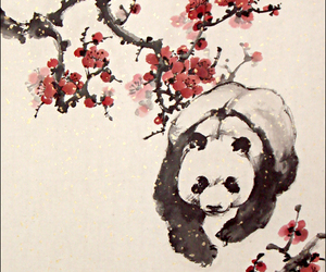flowers and panda image
